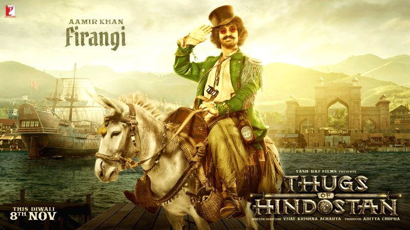 Aamir unveils his wily 'Thugs of Hindostan' look