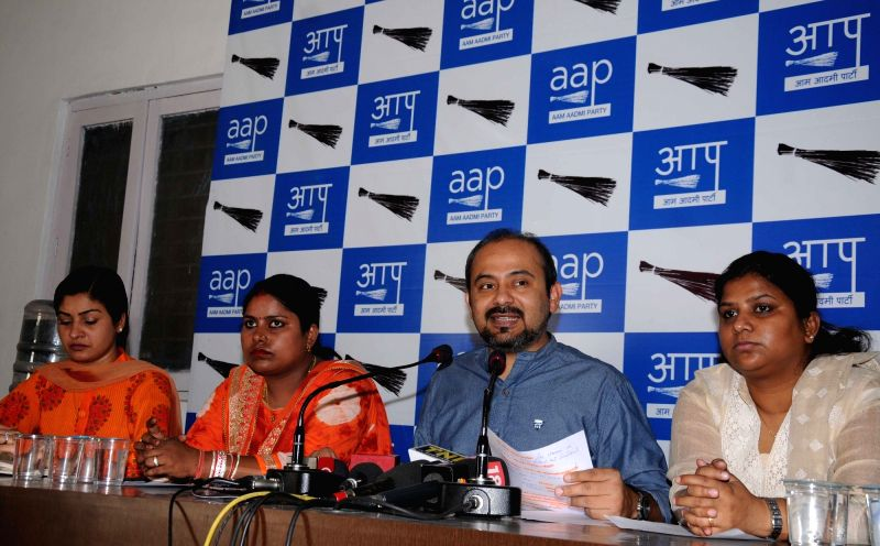 AAP leader Dilip Pandey addresses a press conference in New Delhi, on May 27, 2016. - Dilip Pandey