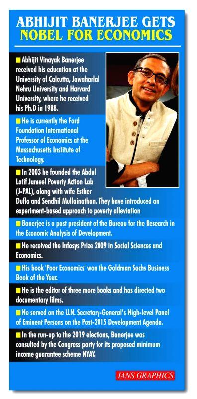 Abhijit Banerjee gets Nobel for Economics. (IANS Infographics)