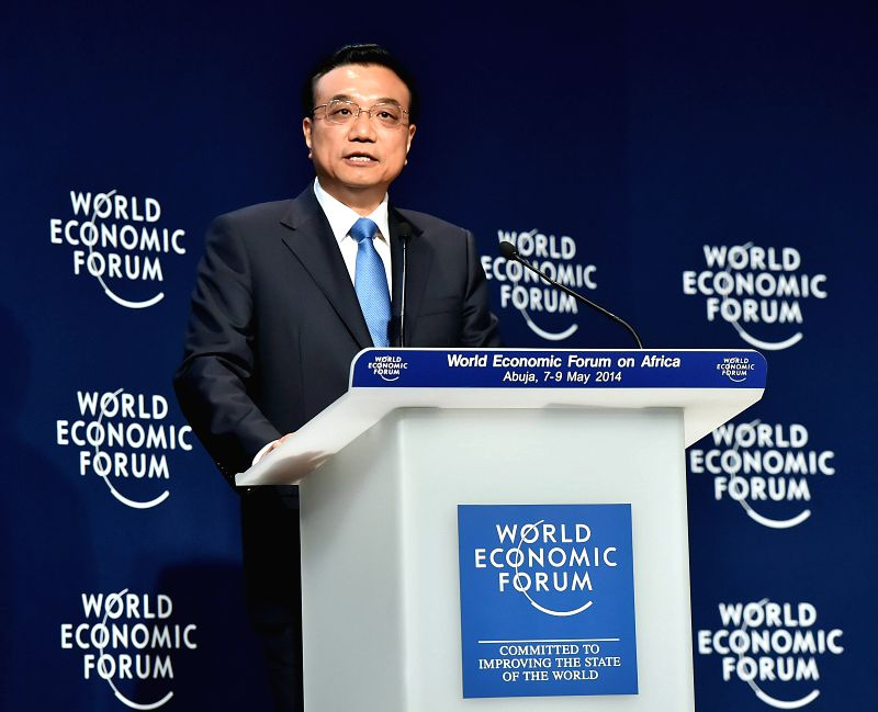 Photo: Chinese Premier Li Keqiang delivers a speech at the World Economic Forum on Africa in Abuja, Nigeria, May 8, 2014. Photo: (Xinhua/Li Tao)