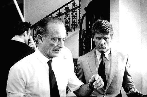 "Acclaimed director Fred Zinnemann directing Edward Fox in the ""The Day of the Jackal\"" - Fred Zinnemann"