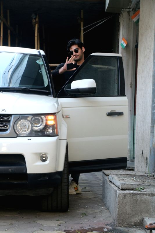 Actor Aahan Shetty seen at bandra in Mumbai on Feb 13, 2018. - Aahan Shetty