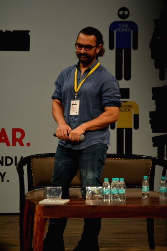Actor Aamir Khan at the 5th edition of Indian Screenwriters Conference in Mumbai. - Aamir Khan
