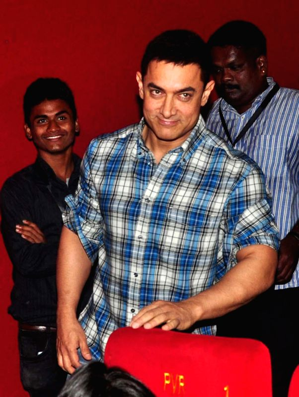 Actor Aamir Khan during the launch of his television show Satyamev Jayate Season 3 in Mumbai, on Aug. 27, 2014.