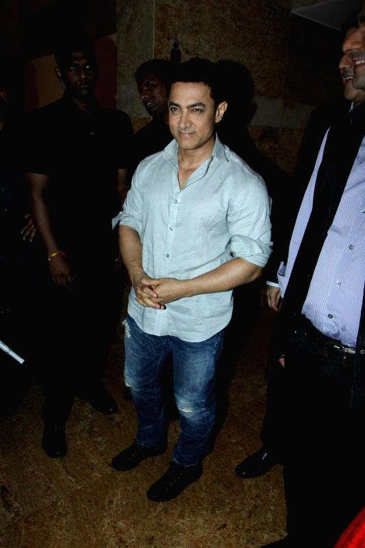 Actor Aamir Khan during the launch of Young Inspirators Network (YIN) of the Delivering Change Foundation (DCF) in Mumbai, on Aug 19, 2014.