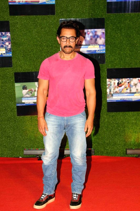 Actor Aamir Khan during the premiere of film Sachin: A Billion Dreams in Mumbai, on May 24, 2017. - Aamir Khan