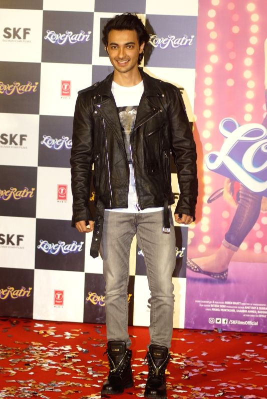 "Actor Aayush Sharma at the trailer launch of his upcoming film ""Loveratri"" in Mumbai on Aug 6, 2018. - Aayush Sharma"