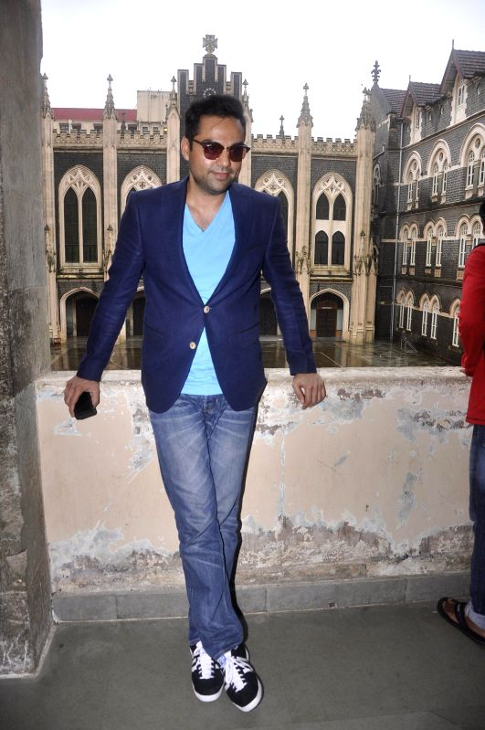 Actor Abhay Deol at the St Xavier`s College in Mumbai, on July 17, 2014. Abhay addressed a press conference where he inaugurated the college`s annual festival Malhar.