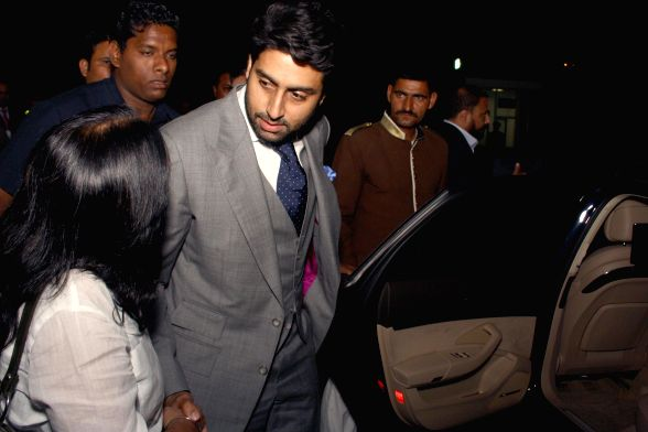 Actor Abhishek Bachchan  and Joe King, Head, Audi India with Audi owner, at the inauguration of India's largest pre owned luxury car showroom Audi Approved Plus in Gurgaon at 21st April 2014 - Abhishek Bachchan