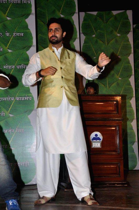 Actor Abhishek Bachchan as a guest attended the Yuvak Biradari`s 40th Anniversary at Bhaidaa Hall in Mumbai on August 8, 2014.