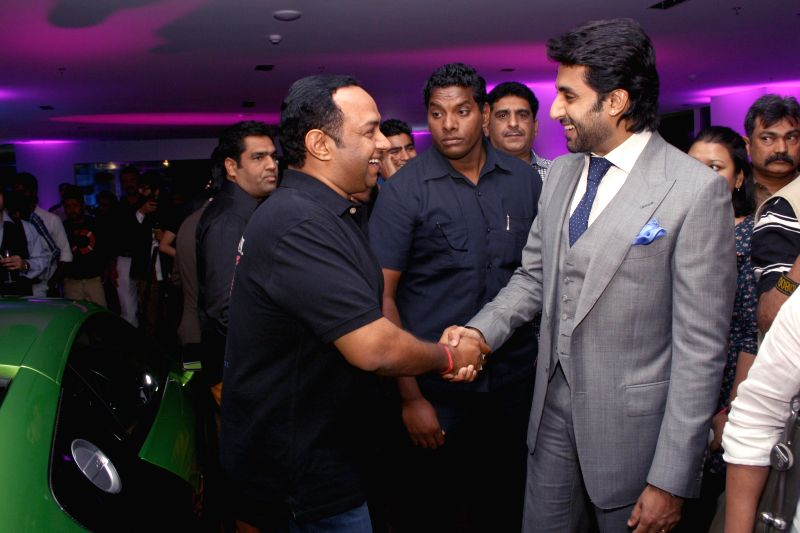 Actor Abhishek Bachchan, at the launch of a luxury car showroom in Gurgaon on April 19, 2014.