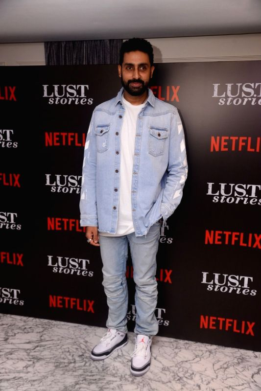 "Actor Abhishek Bachchan at the special screening of Netflix show titled ""Lust Stories"" in Mumbai on June 13, 2018. - Abhishek Bachchan"