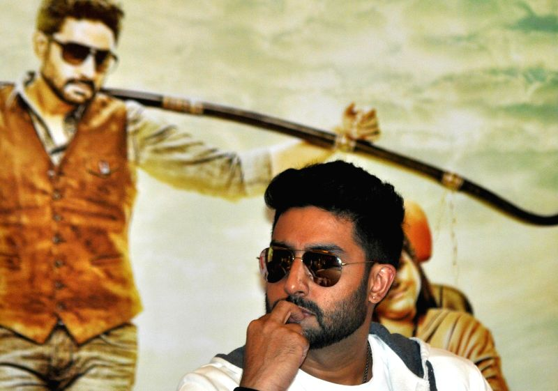 Actor Abhishek Bachchan during a programme in Kolkata, on July 22, 2015.