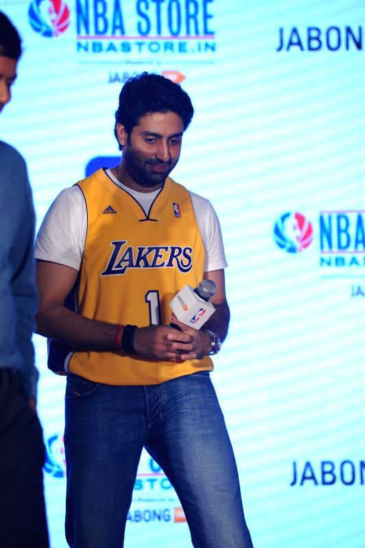 Actor Abhishek Bachchan during the launch of NBA Store in Mumbai on May 06, 2014