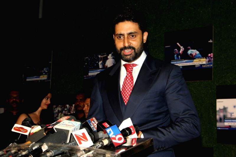 Actor Abhishek Bachchan during the premiere of film Sachin: A Billion Dreams in Mumbai, on May 24, 2017. - Abhishek Bachchan