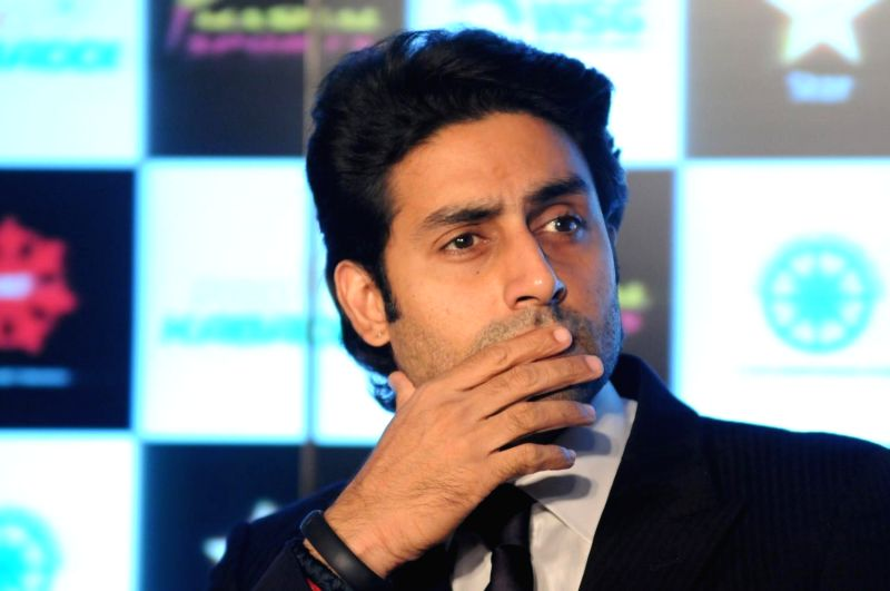 Actor Abhishek Bachchan during the Pro Kabaddi League press conference in Mumbai, on April 10, 2014. - Abhishek Bachchan