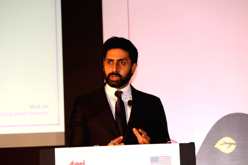 Actor Abhishek Bachchan during the US Consulate Green Heroes Film Festival in Mumbai on April 25, 2017. - Abhishek Bachchan