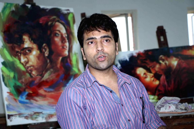 Actor Abir Chatterjee during poster launch of upcoming film 'Hrid Majhare' in Kolkata on June 19, 2014. - Abir Chatterjee