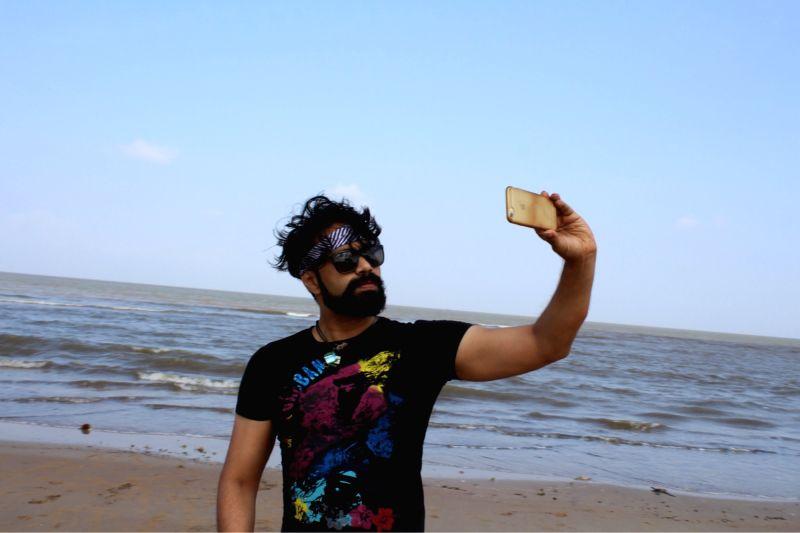 Actor Aditya Om stills in Hyderabad. - Aditya O
