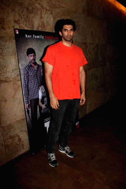 Actor Aditya Roy Kapur during a special screening of film Titli in Mumbai, on Oct 28, 2015. - Aditya Roy Kapur