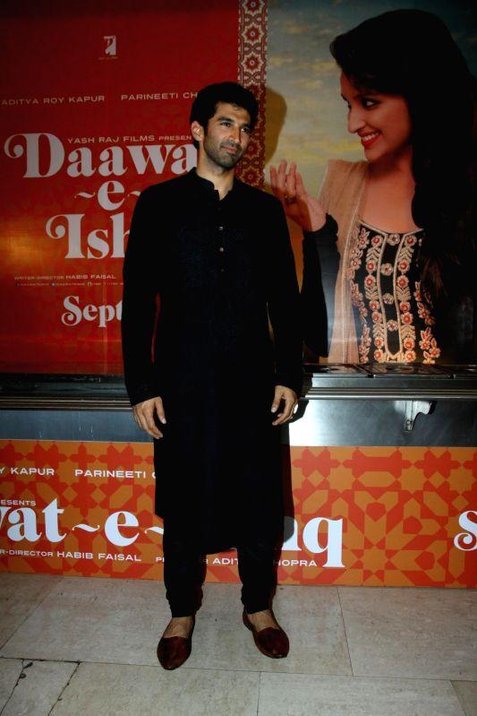 Actor Aditya Roy Kapur during the trailer launch of upcoming film Daawat E Ishq at YRF Studios in Mumbai on July 7, 2014. - Aditya Roy Kapur