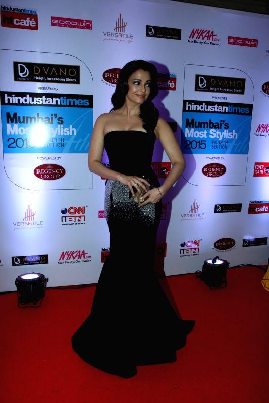 Actor Aishwarya Rai Bachchan during the Hindustan Times Mumbai`s Most Stylish 2015 Awards in Mumbai, on March 26, 2015. - Aishwarya Rai Bachchan