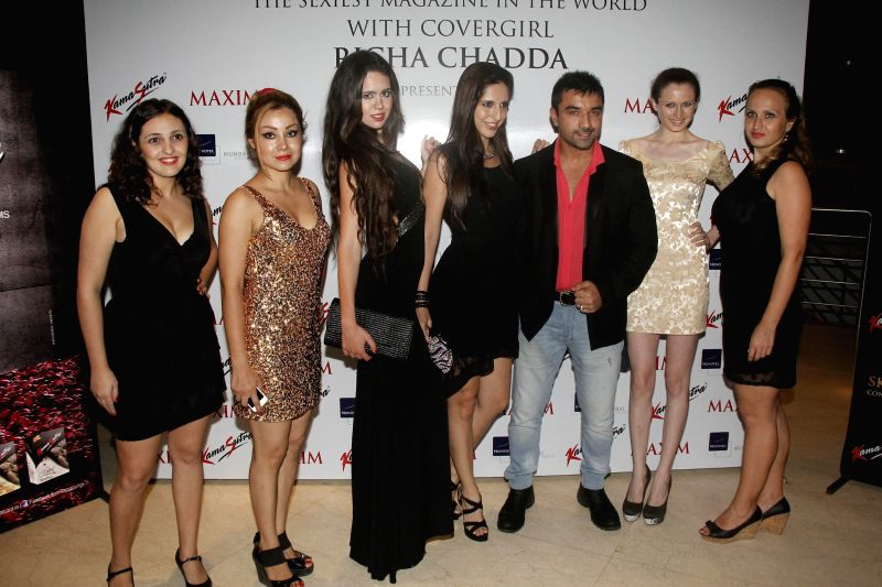Actor Ajaz Khan during the cover launch of Maxim magazine for the September issue in Mumbai on Aug 27, 2014. - Ajaz Khan