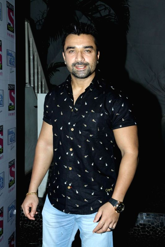 Actor Ajaz Khan during the sundown party for the show Simply Baatein with Raveena in Mumbai on Sept. 3. - Ajaz Khan
