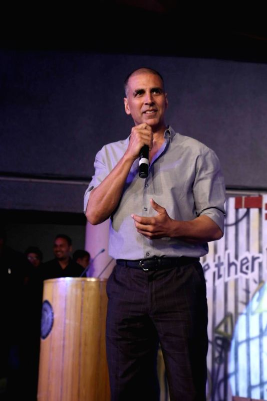 Actor Akshay Kumar addresses during a start up carnival organised at IIT Delhi on Jan 22, 2018. - Akshay Kumar