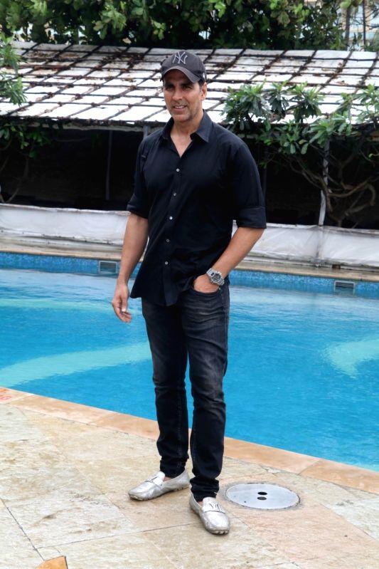 Actor Akshay Kumar during a photo shoot, in Mumbai, on Aug 1, 2016. - Akshay Kumar
