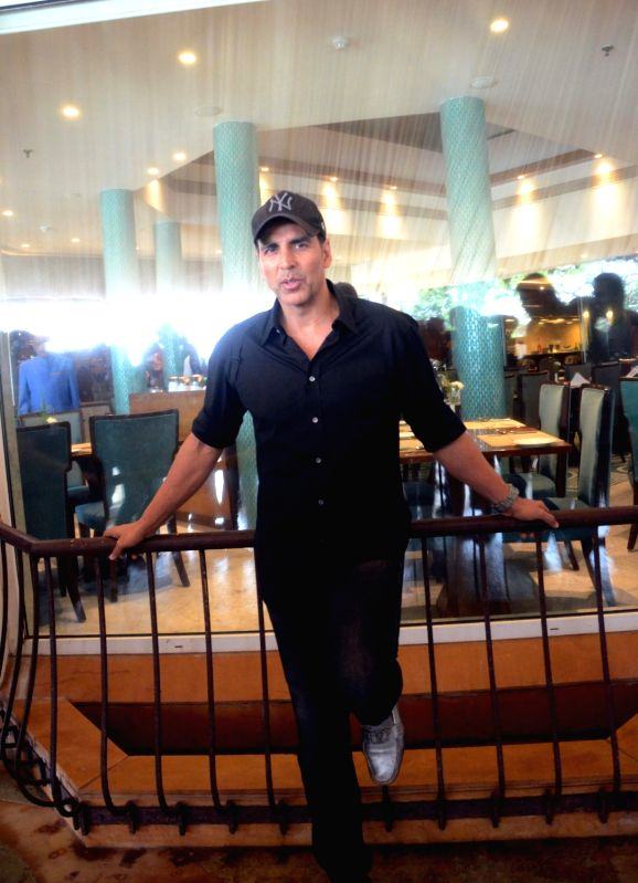 Actor Akshay Kumar during a photoshoot in Mumbai on Aug 1, 2016. - Akshay Kumar
