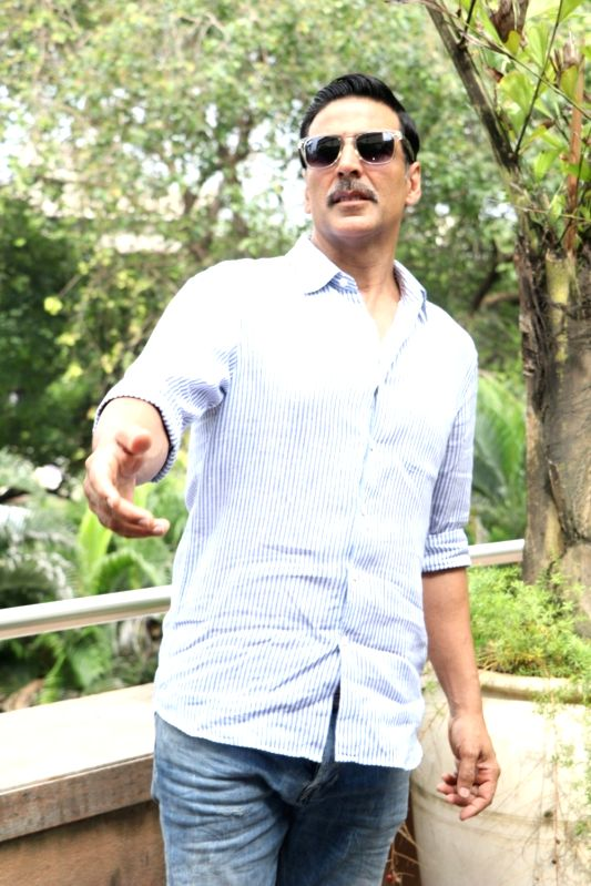 Actor Akshay Kumar during an Interview after the success of film Rustom in Mumbai on Aug 15, 2016.