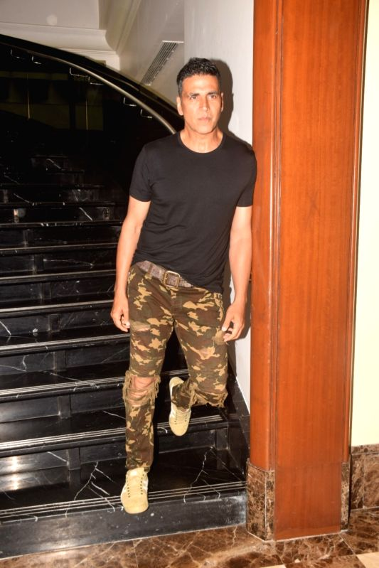 "Actor Akshay Kumar during the promotion of his upcoming film ""Gold"" in Mumbai on July 27, 2018. - Akshay Kumar"