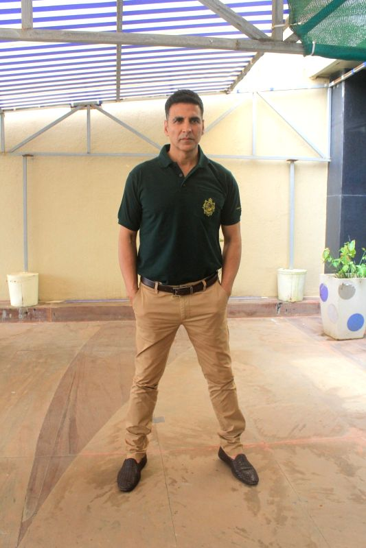 "Actor Akshay Kumar during the promotion of his upcoming film ""Gold"" in Mumbai on July 30, 2018.(Image Source: IANS)"