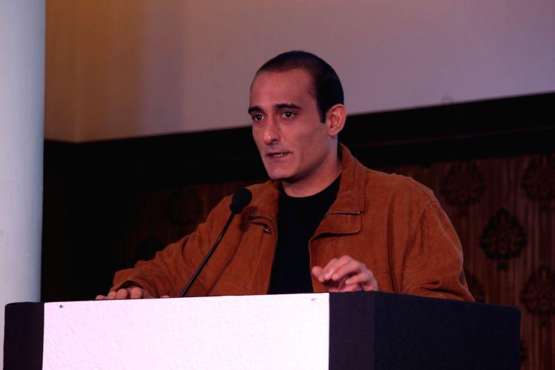 Mumbai:  Actor Akshaye Khanna during the launch of Gujcon product.
