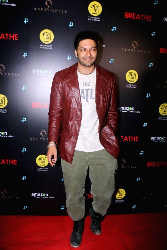 "Actor Ali Fazal at the special screening of upcoming web series ""Breathe"" in Mumbai on Jan 23, 2018."