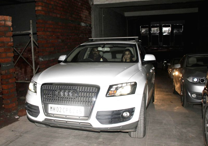 Actor Alia Bhatt during the travel in her AUDI Q7 car in Santacruz, Mumbai on June 25th, 2014.
