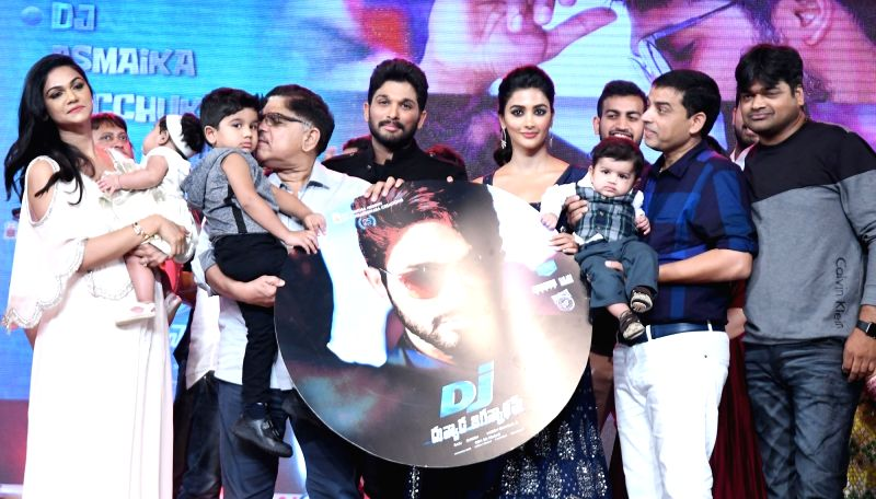Actor Allu Arjun during the movie auido launch of film Duvvada Jagannadham on Hyderabad, June 7, 2017. - Allu Arjun