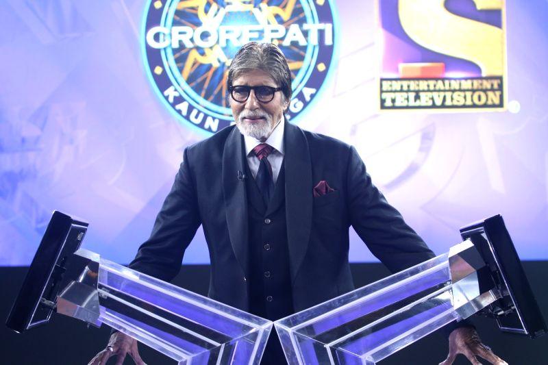 Actor Amitabh Bachchan during a press conference at the launch of 'Kaun Banega Crorepati Season 11' in Mumbai
