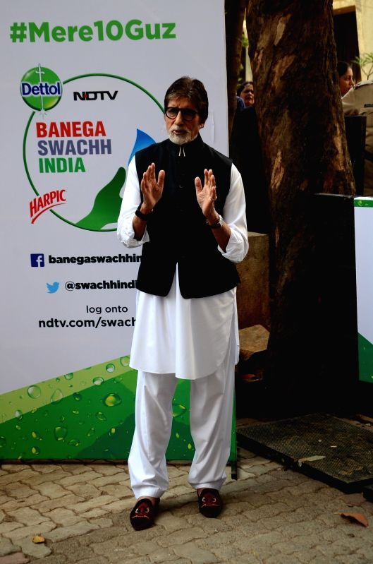 Actor Amitabh Bachchan during NDTV Dettol Banega Swachh India programme  in Mumbai on April 20, 2017. - Amitabh Bachchan