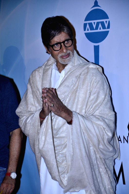Actor Amitabh Bachchan during the launch of single Hanuman Chalisa in Mumbai on July 29, 2014. - Amitabh Bachchan