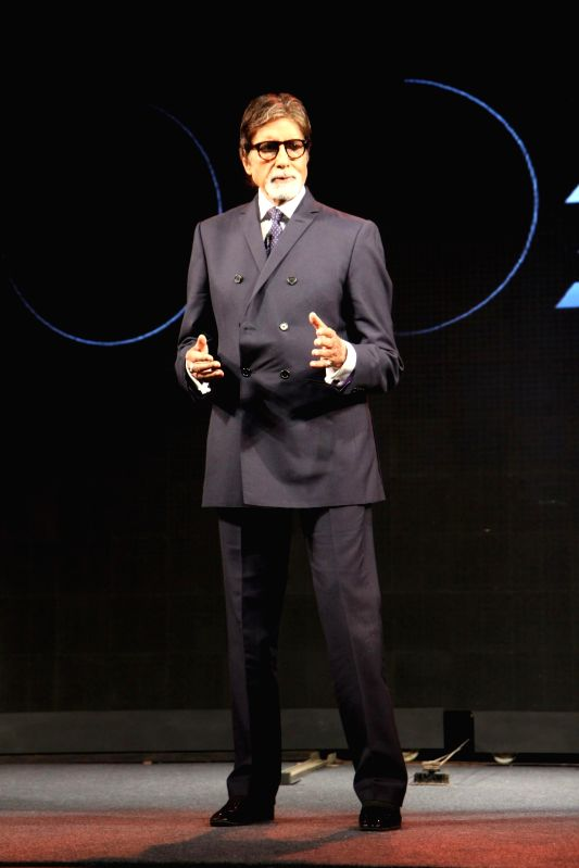 Actor Amitabh Bachchan during the launch of smart phone LG G3  in Mumbai on July 21, 2014. (Photo : IANS)