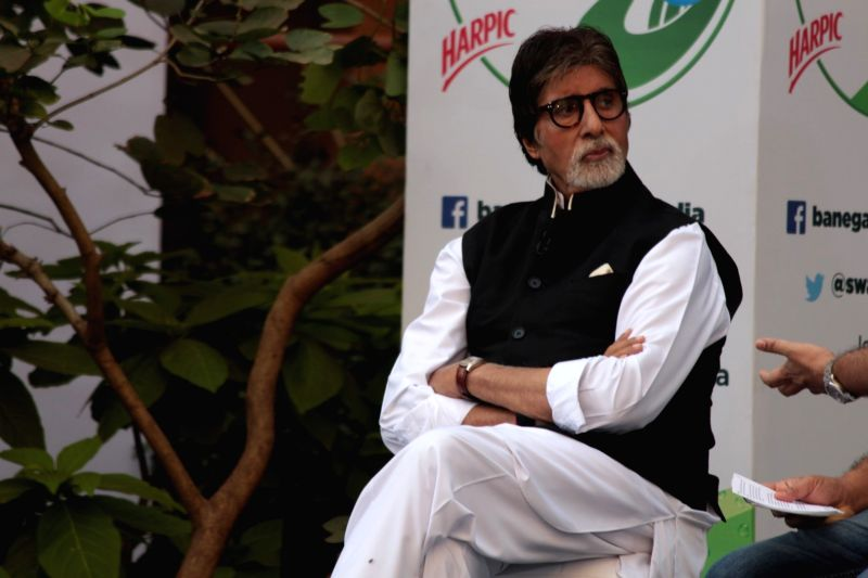 Actor Amitabh Bachchan during the NDTV Dettol Banega Swachh India cleanliness campaign season 4 in Mumbai on April 19, 2017. - Amitabh Bachchan