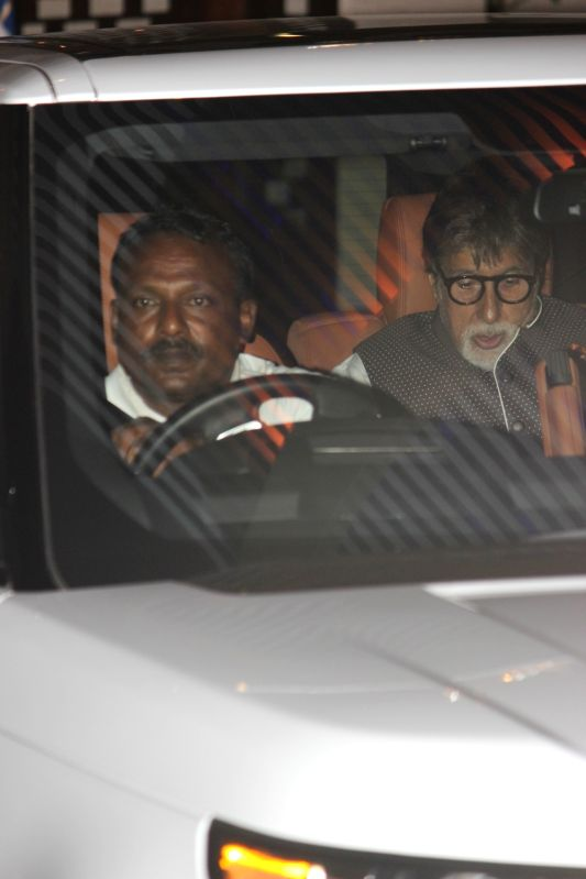 Actor Amitabh Bachchan during the party organised to celebrates Mumbai Indians victory in the Indian Premier League (IPL) 2017 in Mumbai, on May 22, 2017. Mumbai Indians won the IPL title ... - Amitabh Bachchan