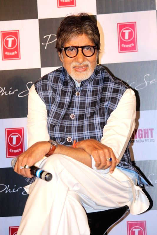 Actor Amitabh Bachchan during the song launch Phir Se in Mumbai, on May 30, 2017. - Amitabh Bachchan