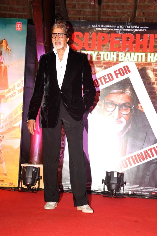 Actor Amitabh Bachchan during the success party of movie Bhootnath Returns in Mumbai on April 16, 2014. - Amitabh Bachchan