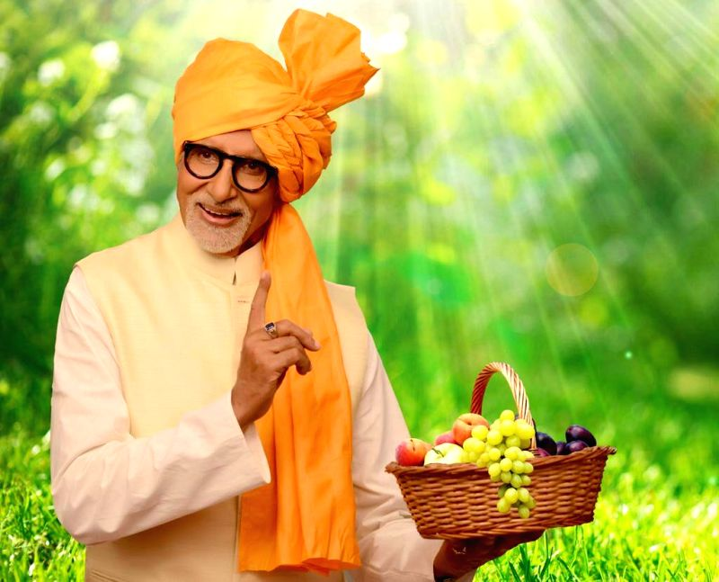 Actor Amitabh Bachchan who has been appointed as the horticulture ambassador of Maharashtra.