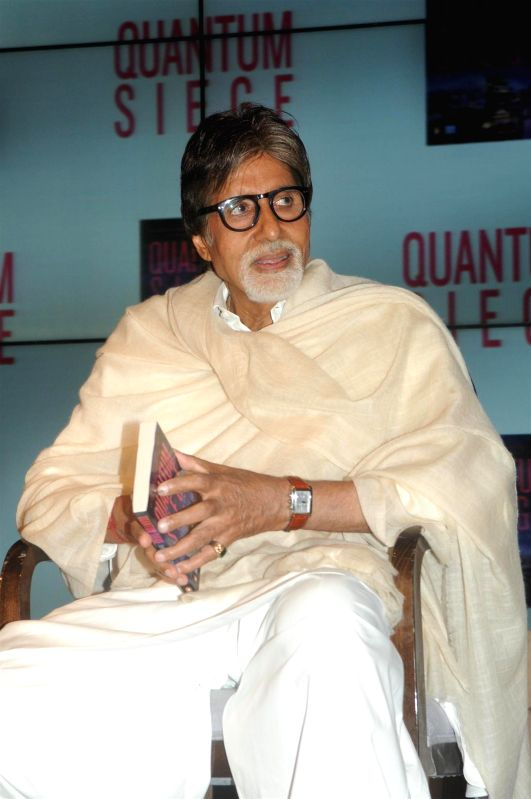 Actor Amithabh Bachchan during the book launch of Brijesh Singh's new book Quantam Siege in Mumbai on June 21, 2014. - Amithabh Bachchan and Brijesh Singh