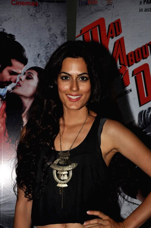 Actor Amrit Maghera during the promotion of her upcoming film Mad About Dance in Mumbai on August 5, 2014. - Amrit Maghera