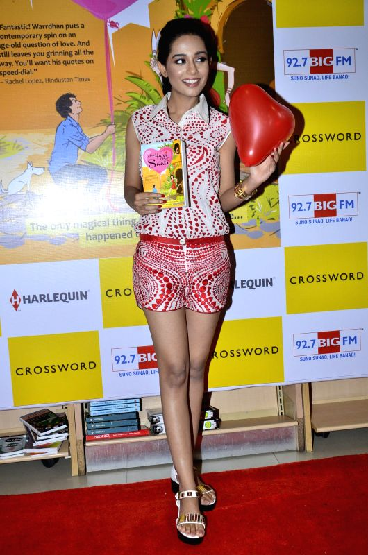 Actor Amrita Rao during the launch of book `When Hari Met His Saali` by Harsh Warrdhan at Crossword store in Kemps Corner in Mumbai on June 24th, 2014.